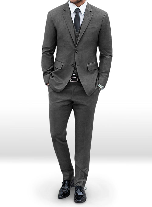 Napolean Mid Charcoal Wool Suit
