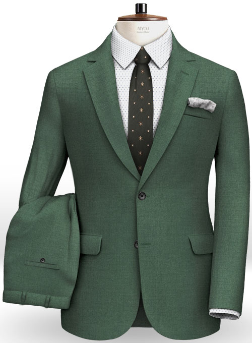 Napolean Green Wool Suit Makeyourownjeans 174 Made To