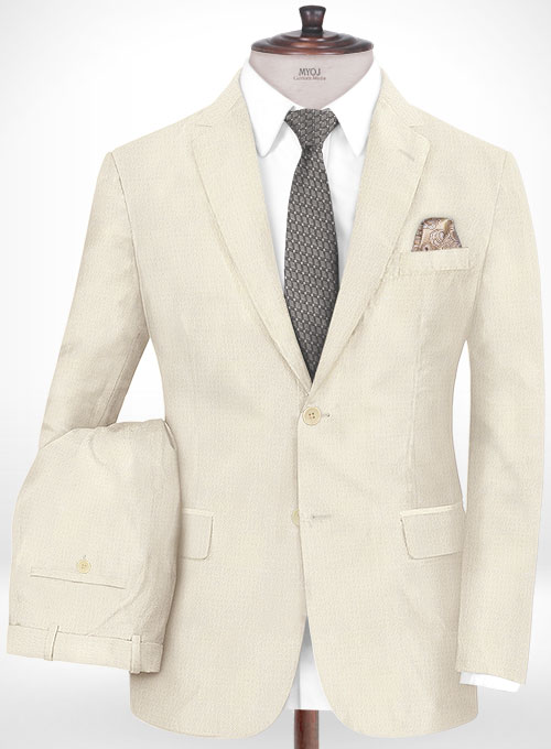 Napolean Fina Ivory Wool Suit