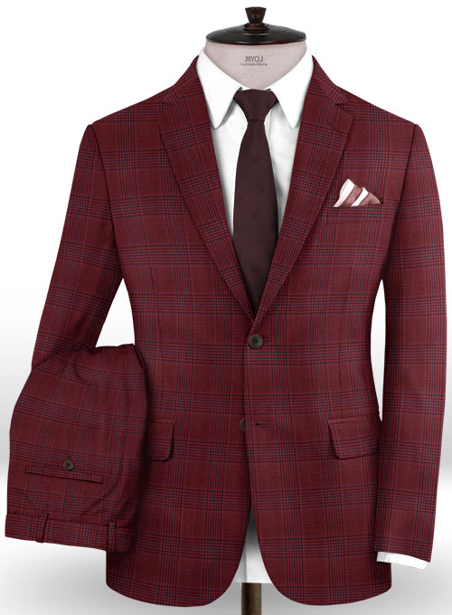 Napolean Nanti Red Wool Suit