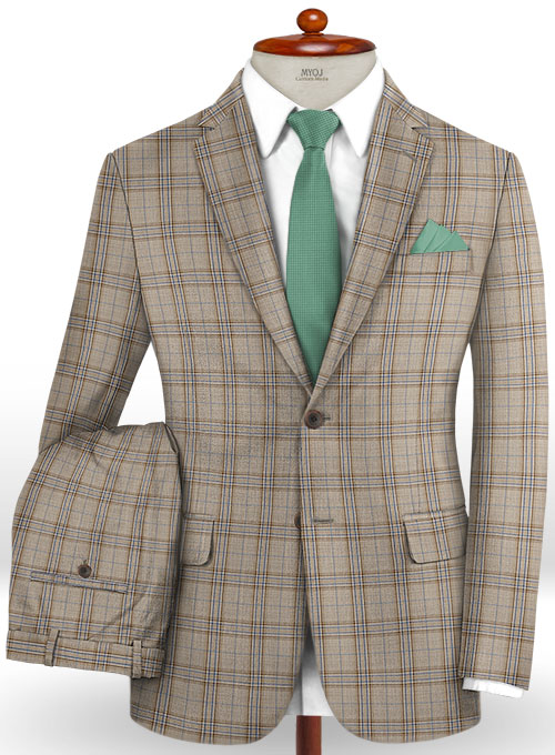 Napolean Petti Brown Wool Suit