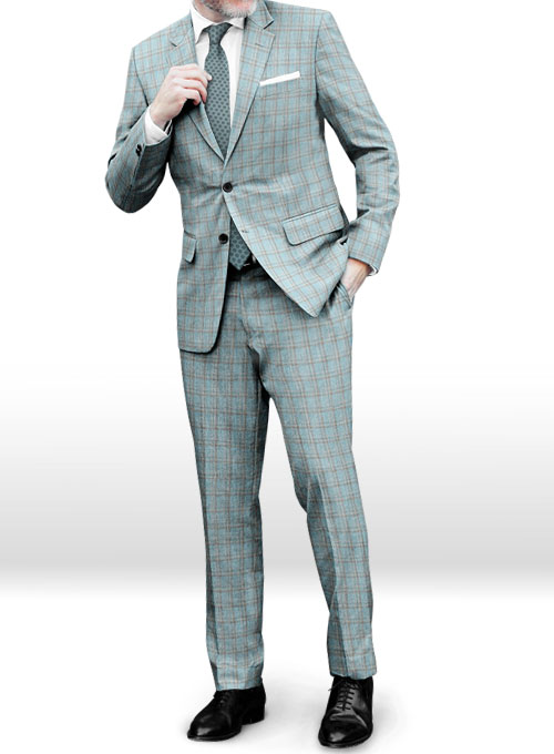 Napolean Spring Blue Wool Suit - Click Image to Close