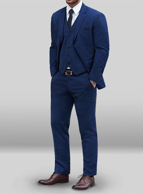 Napolean Persian Blue Wool Suit Makeyourownjeans 174 Made