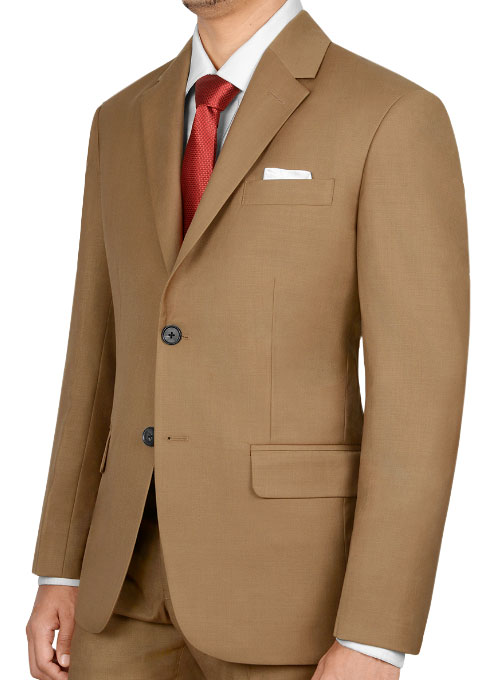 Napolean Tan Wool Suit - Click Image to Close