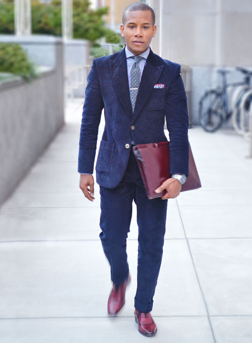 Navy Blue Thick Corduroy Suit : MakeYourOwnJeans®: Made To ...