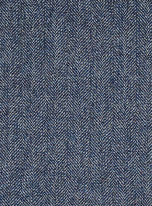 Musto Vintage Herringbone Blue Tweed Overcoat - Click Image to Close