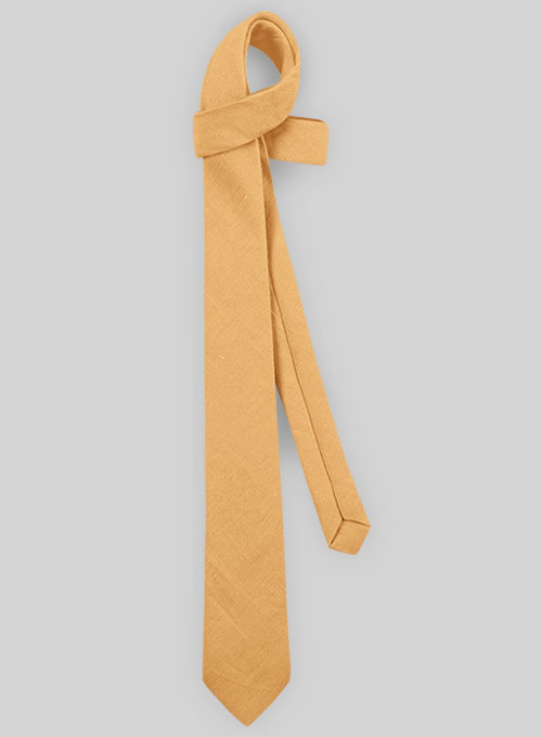 Linen Tie - Pure Pale Orange - Click Image to Close