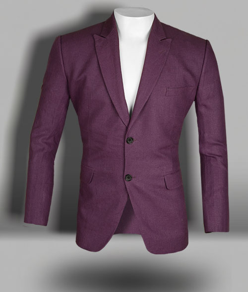 Polish Purple Pure Linen Jacket