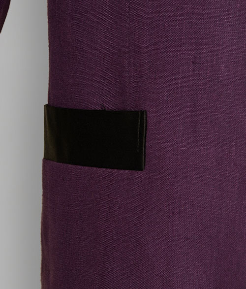 Pure Polish Purple Linen Nehru Tuxedo Jacket