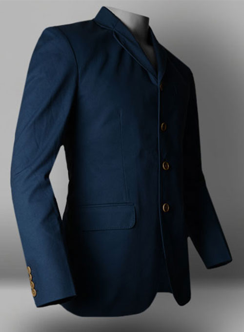 Powder Blue Peached Twill Jacket