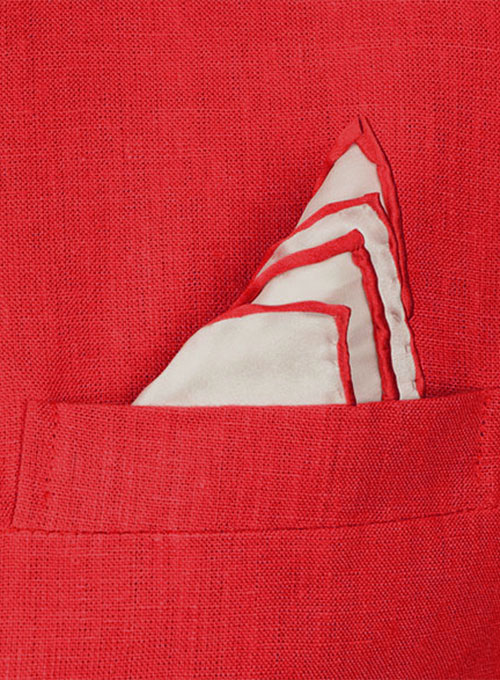 Pure Red Linen Roma Sports Jacket