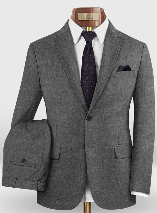 Reda Cashmere Mid Gray Wool Suit