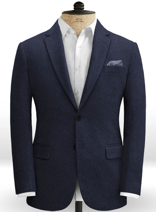 Rope Weave Blue Tweed Suit - Click Image to Close