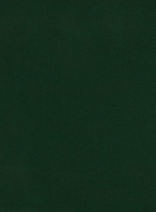 Royal Green Cotton Stretch Suit