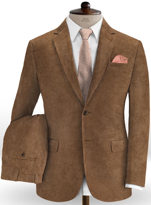 Rust Brown Thick Corduroy Suit