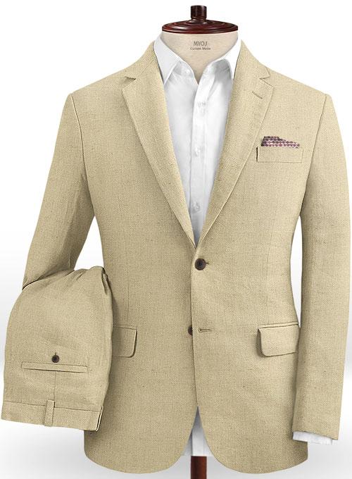 Safari Beige Cotton Linen Suit Makeyourownjeans 174 Made