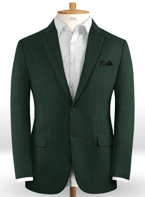Scabal Forest Green Wool Suit - Click Image to Close