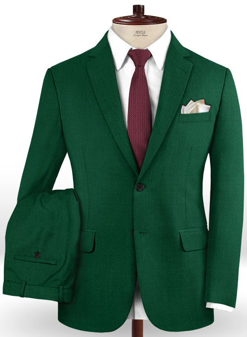 Scabal Oslo Green Wool Suit