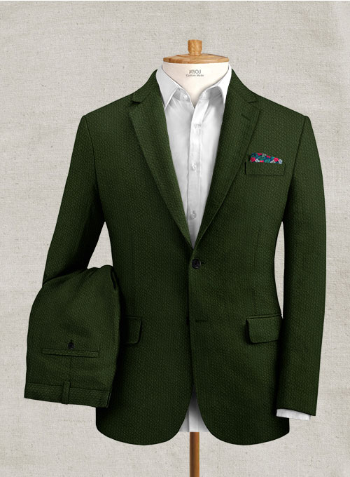 Solbiati Bottle Green Seersucker Suit