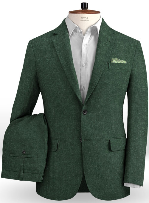 Solbiati Bottle Green Linen Suit