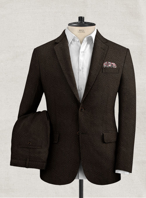 Solbiati Dark Brown Seersucker Suit