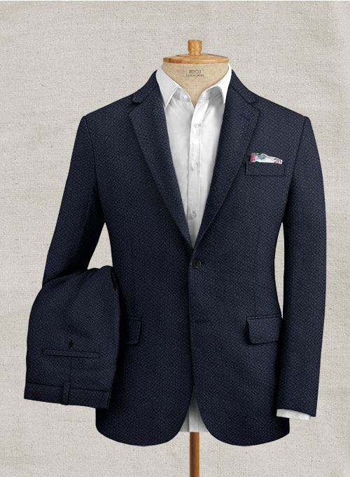 Solbiati Deep Blue Seersucker Suit