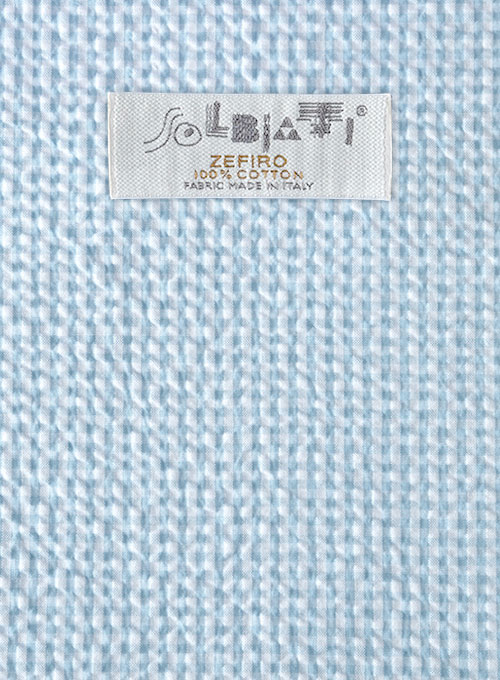 Solbiati Gingham Light Blue Seersucker Suit
