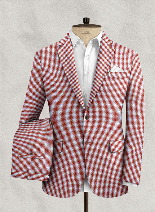 Solbiati Gingham Red Seersucker Suit