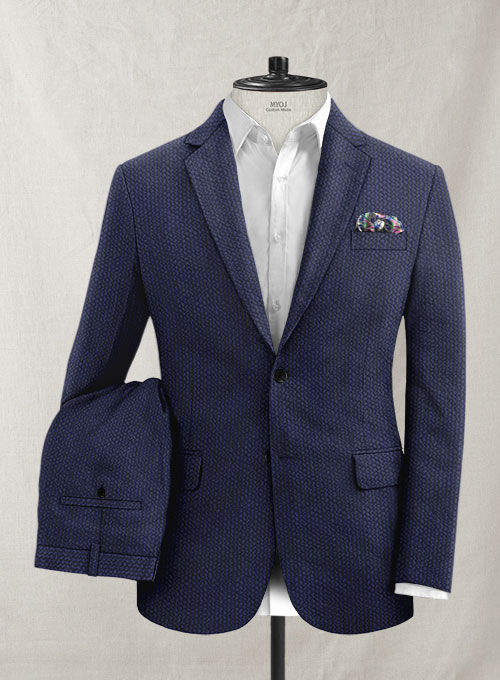 Solbiati Navy Blue Seersucker Suit