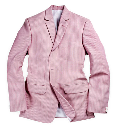 Stripe Pink Wool Linen Jacket