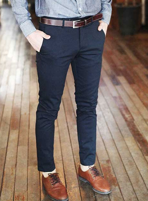 Stretch Chino Dress Pants Tailored Stretchino Trousers