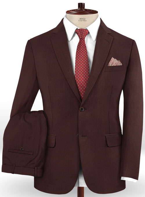 Stretch Wine Wool Suit