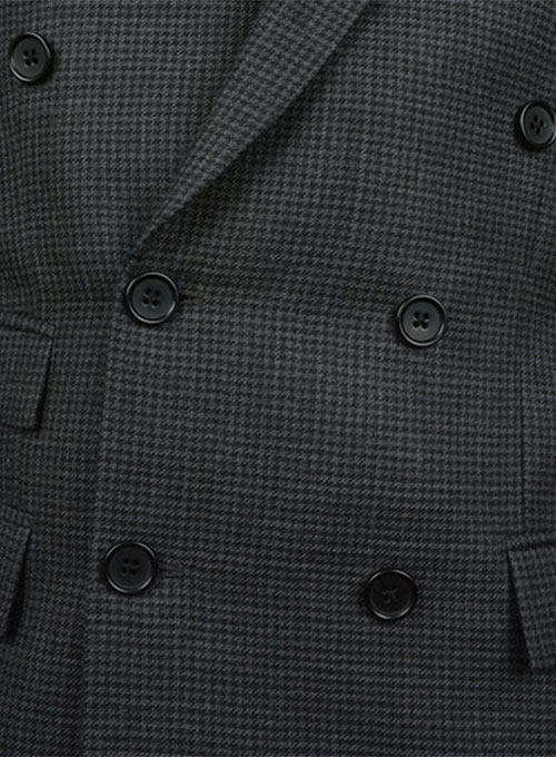 Tweedy Black Houndstooth Wool Jacket
