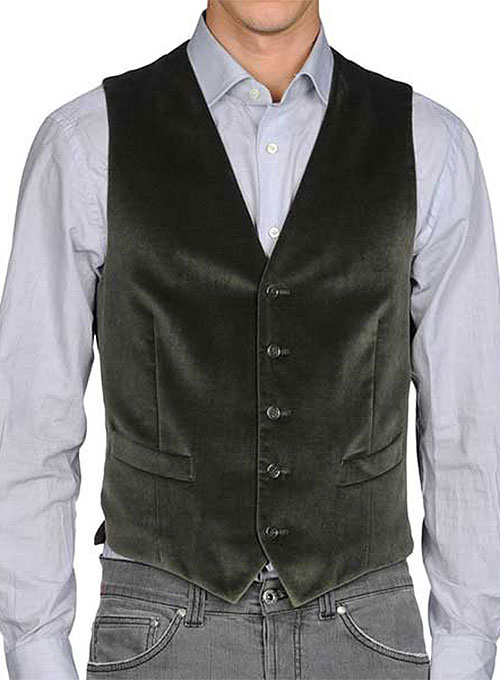 Velvet Waist Coat - Pre Set Sizes - Quick Order