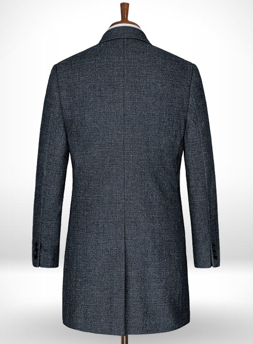 Vintage Glasgow Blue Tweed Overcoat - Click Image to Close
