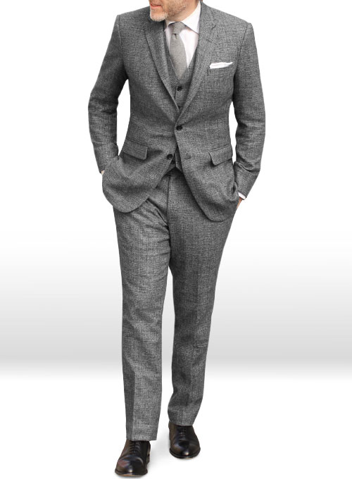 Vintage Glasgow Gray Tweed Suit