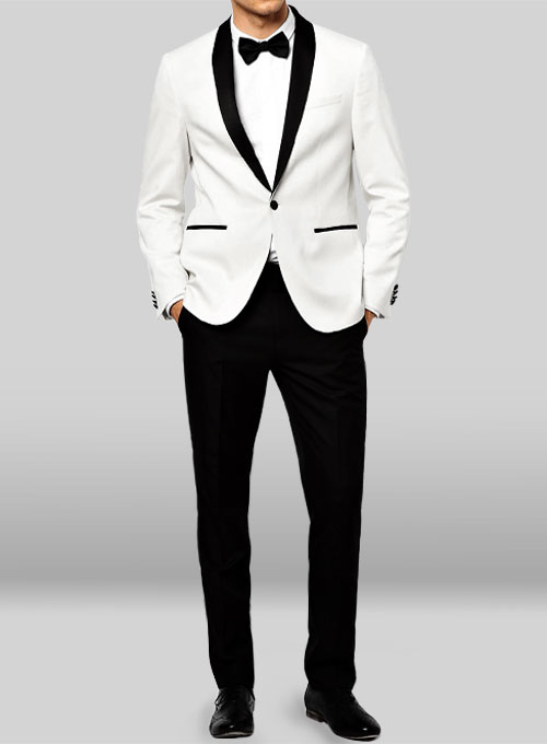 Tuxedo Suit - White Jacket Black Trouser