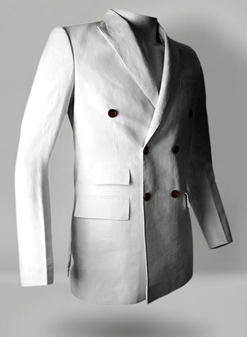 White Pure Linen Jacket