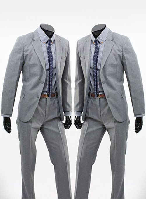 Light Gray Worsted Wool Suit [Light Gray Worsted Wool Suit ...