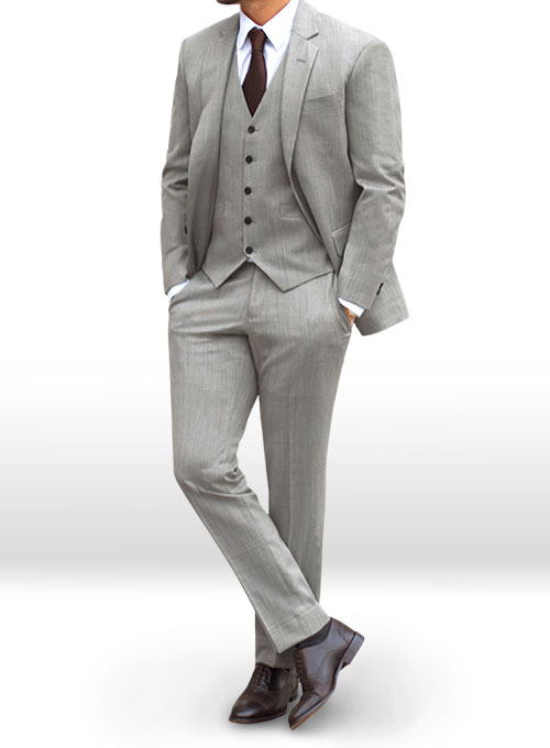 Worsted Light Gray Wool Suit : MakeYourOwnJeans®: Made To ...
