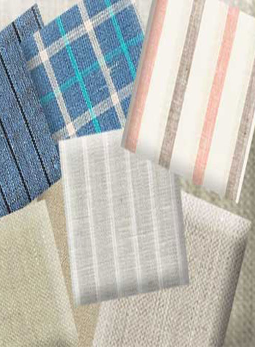 Linen Shirts Fabric Samples