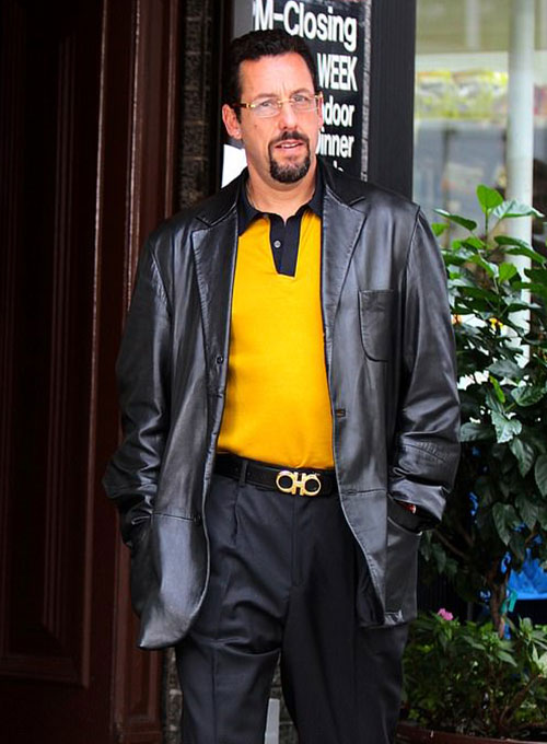 Adam Sandler Uncut Gems Leather Blazer