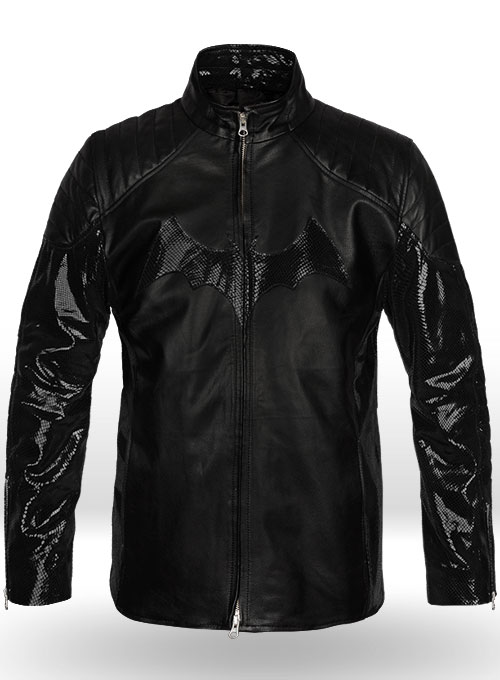 Thick Goat Black Batman Begins Christian Bale Leather Jacket