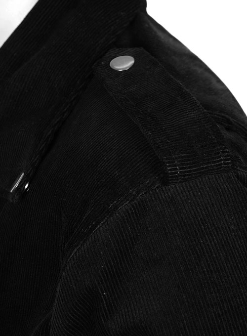 Black Corduroy Biker Jacket