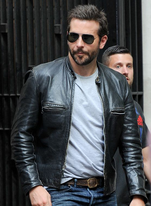 Bradley Cooper Burnt Leather Jacket