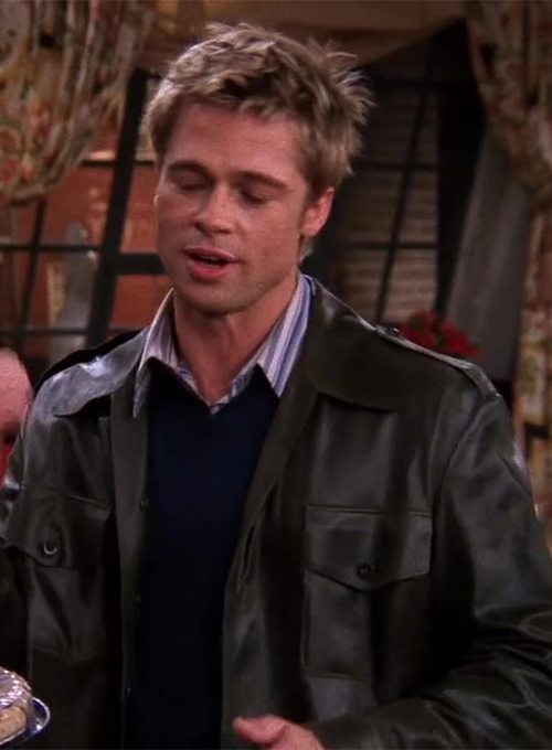 Brad Pitt Friends Season 8 Leather Jacket