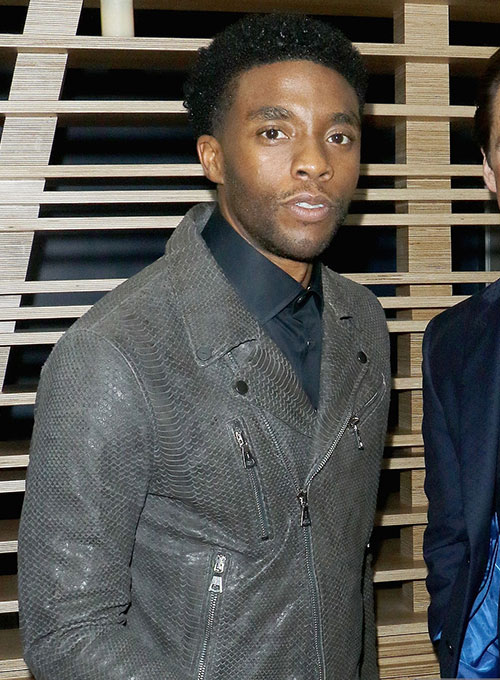 Chadwick Boseman Leather Jacket #1