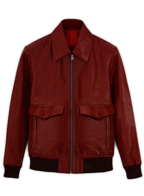 Cherry Red Drake Graham Toronto Film Festival Leather Jacket