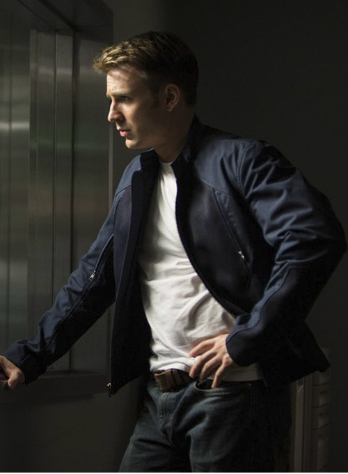 Chris Evans Captain America: The Winter Soldier Leather Jacket