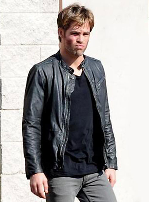 Chris Pine Horrible Bosses 2 Leather Jacket